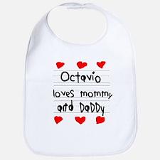 Octavio Loves Mommy and Daddy Bib