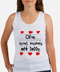 Olive Loves Mommy and Daddy Women's Tank Top