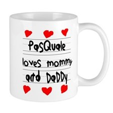 Pasquale Loves Mommy and Daddy Mug