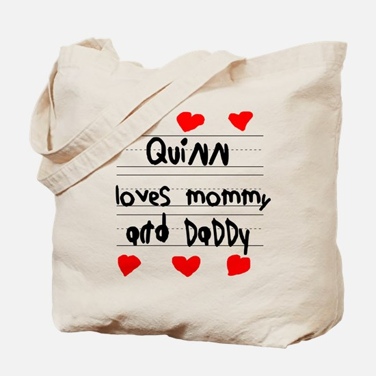 Quinn Loves Mommy and Daddy Tote Bag