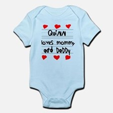 Quinn Loves Mommy and Daddy Infant Bodysuit