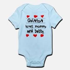 Quinton Loves Mommy and Daddy Infant Bodysuit