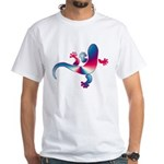 Cool Gecko 4 White T-Shirt
