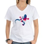 Cool Gecko 4 Women's V-Neck T-Shirt