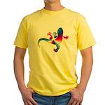 Cool Gecko 4 Yellow T-Shirt
