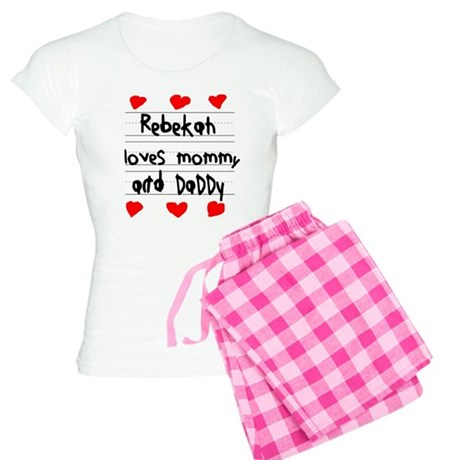 Rebekah Loves Mommy and Daddy Women's Light Pajama