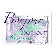 bonjour Postcards (Package of 8)