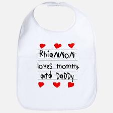 Rhiannon Loves Mommy and Daddy Bib