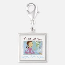 yogafartsmid.png Silver Square Charm