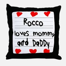 Rocco Loves Mommy and Daddy Throw Pillow