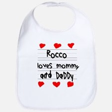 Rocco Loves Mommy and Daddy Bib