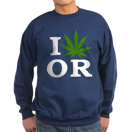I Love Cannabis Oregon Sweatshirt (dark)
