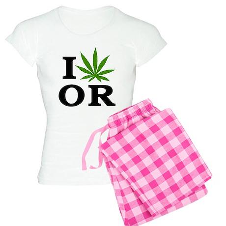 I Love Cannabis Oregon Women's Light Pajamas