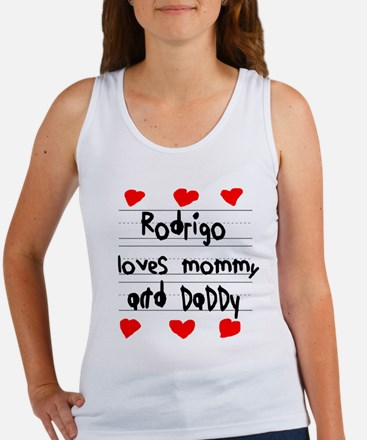Rodrigo Loves Mommy and Daddy Women's Tank Top