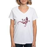 Cool Gecko 6 Women's V-Neck T-Shirt