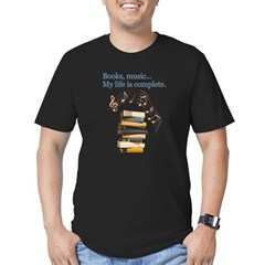 Books and music Men's Fitted T-Shirt (dark)