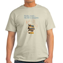 Books and music Light T-Shirt