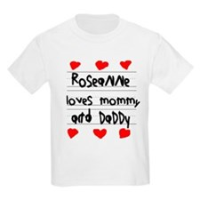 Roseanne Loves Mommy and Daddy T-Shirt