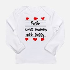 Rosie Loves Mommy and Daddy Long Sleeve Infant T-S