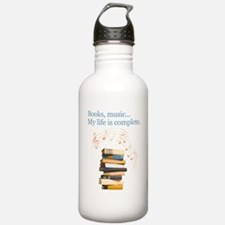Books and music Water Bottle
