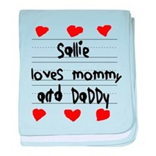 Sallie Loves Mommy and Daddy baby blanket