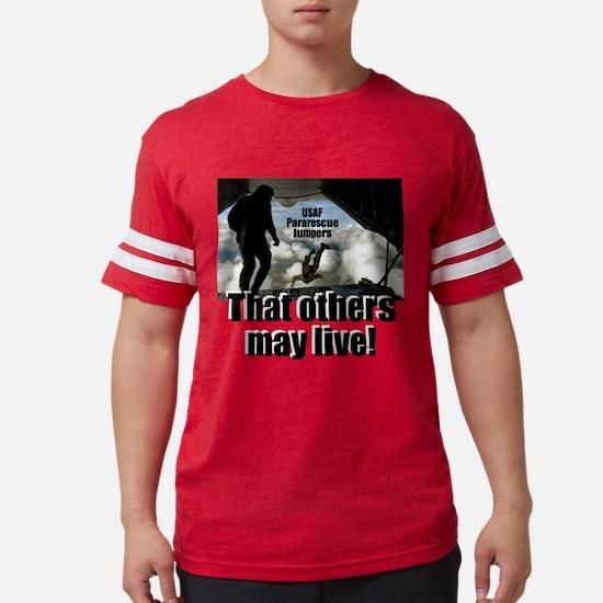 USAF PJs white t-shirt Mens Football Shirt
