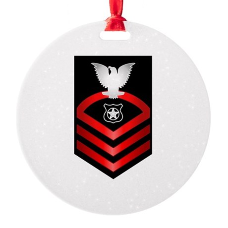 Navy Chief Master at Arms Round Ornament