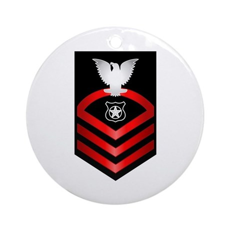 Navy Chief Master at Arms Ornament (Round)