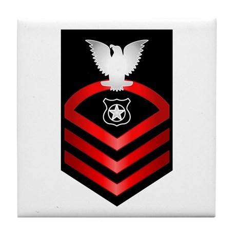 Navy Chief Master at Arms Tile Coaster