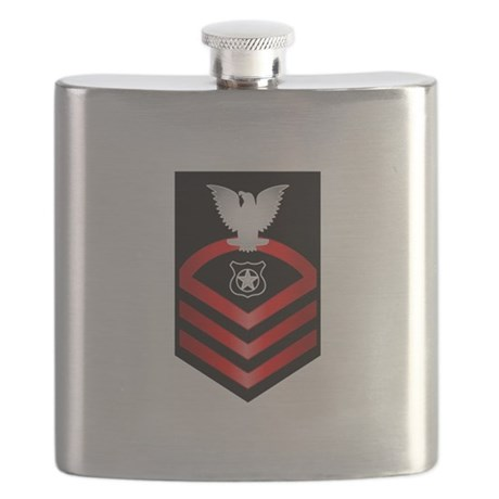 Navy Chief Master at Arms Flask