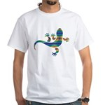 Cool Gecko 8 White T-Shirt