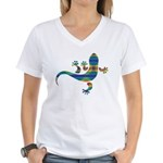 Cool Gecko 8 Women's V-Neck T-Shirt