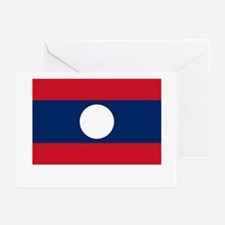 Laos Flag Picture Greeting Cards (Pk of 10)