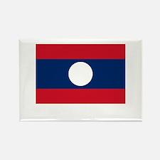 Laos Flag Picture Rectangle Magnet