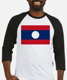 Laos Flag Picture Baseball Jersey