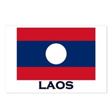 Laos Flag Stuff Postcards (Package of 8)