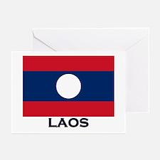 Laos Flag Stuff Greeting Cards (Pk of 10)