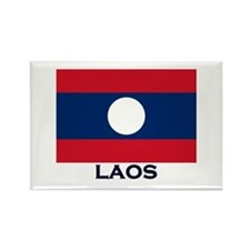 Laos Flag Stuff Rectangle Magnet