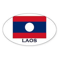 Laos Flag Stuff Oval Decal
