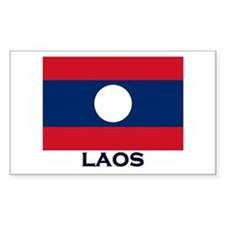 Laos Flag Stuff Rectangle Decal