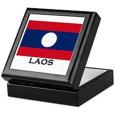 Laos Flag Stuff Keepsake Box