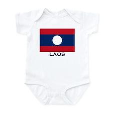 Laos Flag Stuff Infant Bodysuit