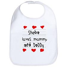 Sheba Loves Mommy and Daddy Bib