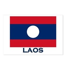 Laos Flag Gear Postcards (Package of 8)