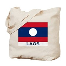 Laos Flag Gear Tote Bag