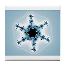 Fractal Snowflake Design Tile Coaster