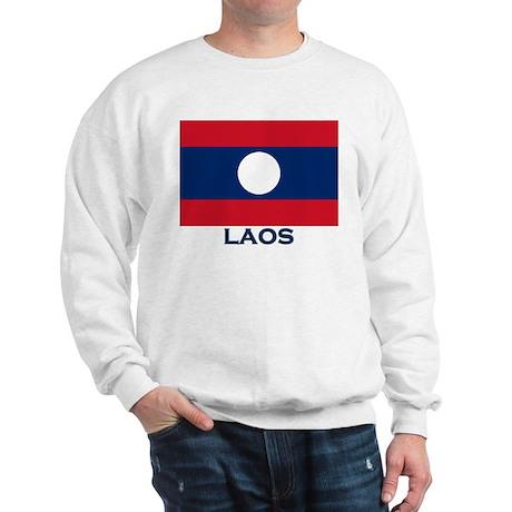Laos Flag Gear Sweatshirt