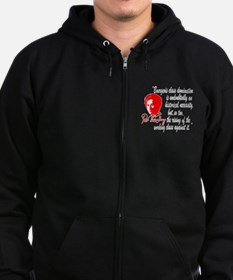 Rosa Luxemburg with Quote Zipped Hoodie