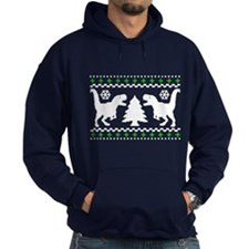 FUNNY! Ugly Holiday Dino Sweater Hoody