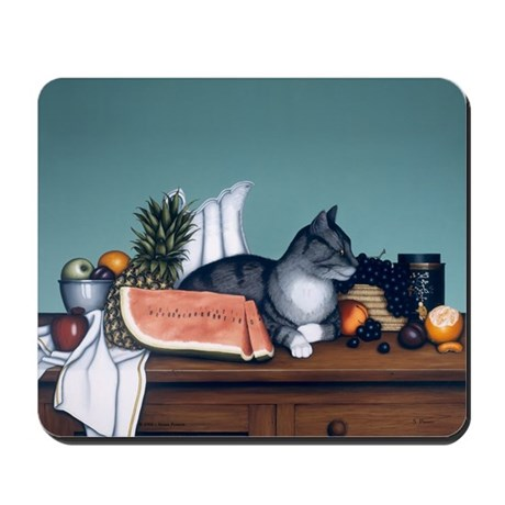 """Still Life with Watermelon"" Mousepad"